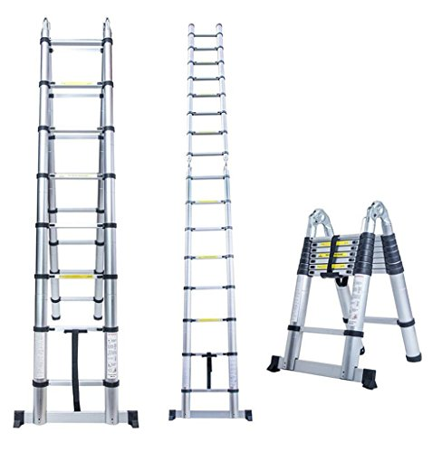 Nlyefa 16 5ft Aluminum Multi Purpose Ladder Telescoping